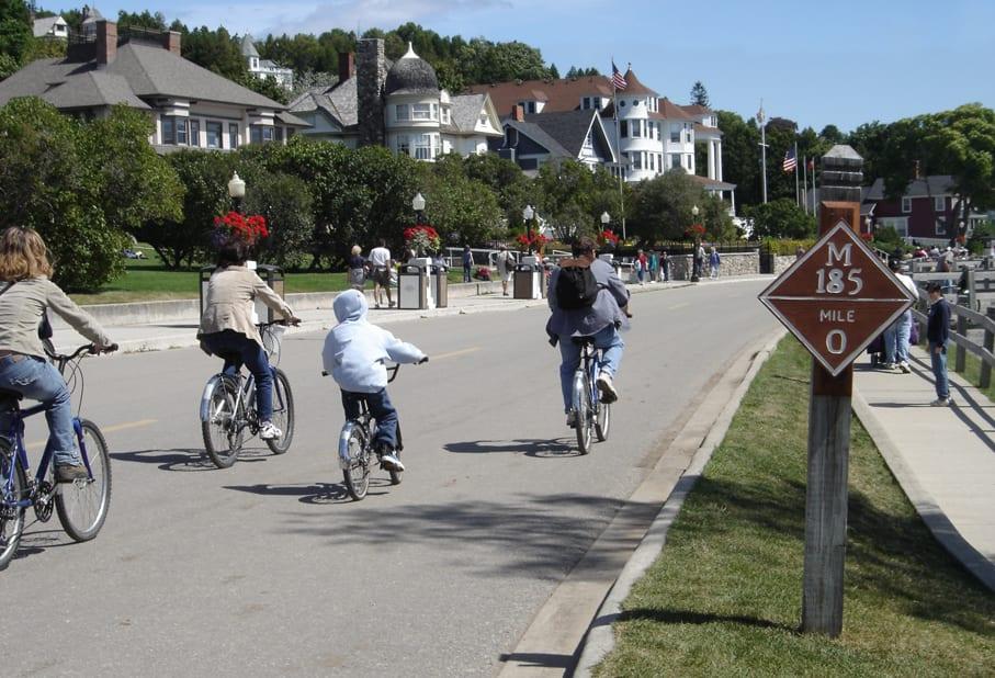 bike around Mackinac Island